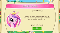 "Mobile game Princess Cadance's ""Galloping Maiden"" task"