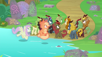 Ponies and Kirin hear Autumn Blaze S8E23
