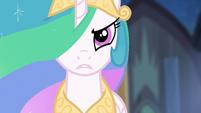 Princess Celestia addressing Nightmare Moon S4E2