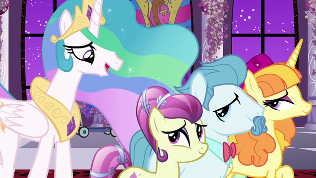 File:Princess Celestia walking with dignitary ponies S7E10.png