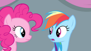 "Rainbow ""Cloudsdale has two ice archery finalists"" S4E24"