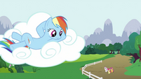 Rainbow Dash looking down S2E23