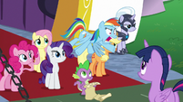 "Rainbow Dash yelling ""why?!"" S9E13"