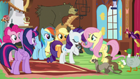 """Rarity """"helped me when I was setting up"""" S7E5"""
