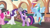 Rarity hear Rainbow Dash confess S2E24