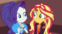 Rarity surprised by Sunset's decision EGDS44