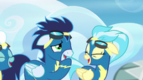 Soarin and Misty Fly laugh at Rainbow S6E7