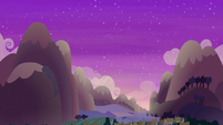 Sun setting over Ponyville S6E17
