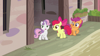 The Cutie Mark Crusaders locate Big McIntosh S7E8