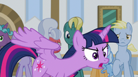 "Twilight Sparkle defensive ""I am not!"" S8E16"