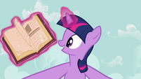 Twilight Sparkle opens book S2E17