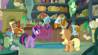 Twilight appears with Stygian's book S8E21