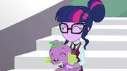 Twilight happily petting Spike EG3