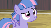 Wind Sprint raising her eyebrow S9E6