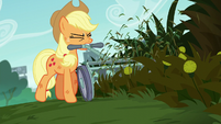 Applejack mowing grass and weeds S5E16