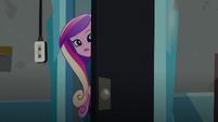 Cadance peering behind the door (new version) EG3