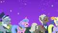 Caesar, Royal Ribbon, Sealed Scroll, and Lyrica singing after Rainbow Dash's solo S1E26.png