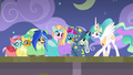 Celestia acting during the dance number S8E7.png