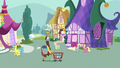 Discord pushing a shopping cart through town S7E12.png