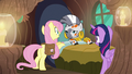 Fluttershy and Twilight check up on Zecora S7E20.png