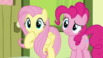 Fluttershy shocked by the CMC's arguing S8E12