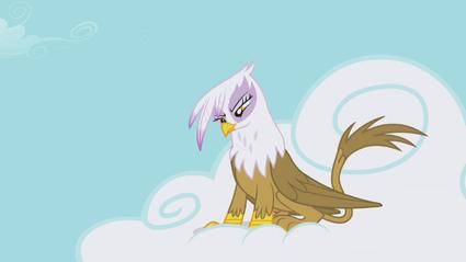 Gilda em uma nuvem com um olhar maligno T1E05