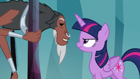 Lord Tirek bargaining with Twilight S8E25