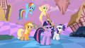 Main ponies Sans Pinkie Pie Reactions to Pinkie Pie S2E2.png