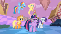 Main ponies Sans Pinkie Pie Reactions to Pinkie Pie S2E2