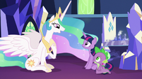 "Princess Celestia ""I didn't want you to go"" S7E1"