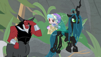 Queen Chrysalis ignoring Cozy Glow's plan S9E8