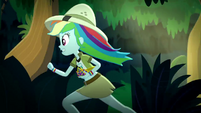 Rainbow Dash running through the jungle SS12