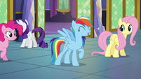 "Rainbow Dash singing ""let's all work together"" S5E3"