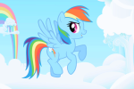Rainbow Dash table