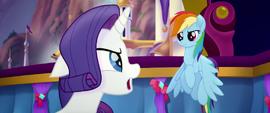 Rarity -don't you dare, Rainbow Dash!- MLPTM