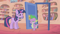 Spike walks through the door he just closed S1E06.png