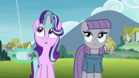 Starlight Glimmer happily flying a kite S7E4