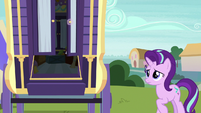 Starlight sees Trixie's wagon door open S9E20