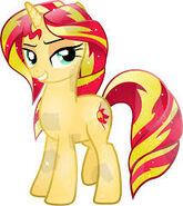 Sunset Shimmer Pony de Cristal