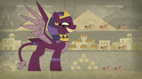The sphinx terrorizes the village S7E18