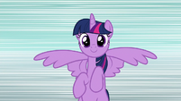 Twilight Sparkle hovering S8 opening