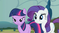 Twilight and Rarity losing horns S2E1