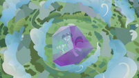 Twilight and Spike trapped falling from the sky S5E25
