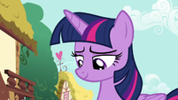 Twilight looks pleased at Toola Roola and Coconut S7E14