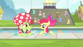 Apple Bloom and Granny Smith resurfacing S4E20.png