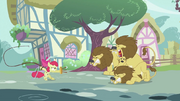 Apple Bloom wielding whip and chair S2E06
