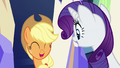 Applejack and Rarity impressed S6E12.png