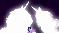 Celestia and Luna transform before Twilight S9E1
