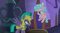 Chrysalis turns into a royal guard S9E17
