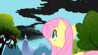 Fluttershy notices the smoke S01E07